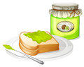 A sandwich with a jam illustration of on white background Stock Photo