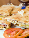Sandwich Limassol Cyprus pita bread Royalty Free Stock Photo