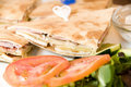 Sandwich  Limassol Cyprus pita bread Stock Photo