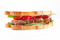 Sandwich with meat and pepper Royalty Free Stock Image