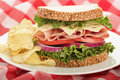 Sandwich perfection Royalty Free Stock Photography