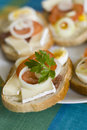 Sandwich plate Stock Images