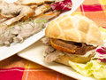 Sandwich with roast pork Stock Image