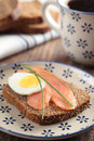Sandwich with salmon Royalty Free Stock Photo