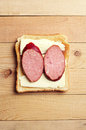 Sandwich with sausage Royalty Free Stock Photo