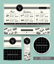 Sandwich set menu restaurant graphic design template vector Stock Photography