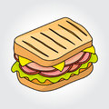 Sandwich vector icon.