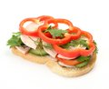 Sandwich with vegetables Royalty Free Stock Photo