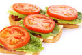 Sandwiches with bacon lettuce and tomato Royalty Free Stock Image