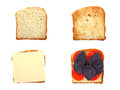 Sandwiches, collage Royalty Free Stock Photo