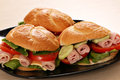 Sandwiches fast food Royalty Free Stock Images
