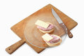 Sandwiches with ham and chees on plate Stock Image