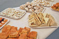 Sandwiches and pastries for a party Royalty Free Stock Photo