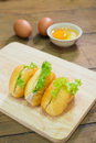 Sandwiches with tuna on table Stock Photography
