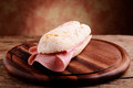 Sandwitch com mortadella italiano Foto de Stock Royalty Free