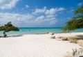 Sandy Aruba Beach Royalty Free Stock Photo