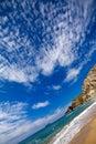 Sandy beach along the coast Royalty Free Stock Photo