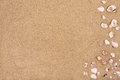 Sandy beach background, copy space, summer Royalty Free Stock Photo