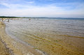 Sandy beach on baltic sea in swinoujscie poland Royalty Free Stock Photo
