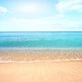 Sandy Beach With Calm Water Ag...