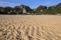 Sandy beach when ebb tide phi phi island s krabi thailand taken apr Stock Photography