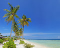 A sandy beach in Maldives island Stock Images