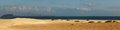 Sandy beach panorama a of a this is at corralejo on fuerteventura in the canary islands Stock Photo