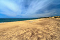 Sandy beach in piscinas italy southwest sardinia Royalty Free Stock Image
