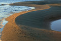 The sandy beaches of lena river in yakutia Royalty Free Stock Photography