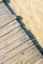 Sandy boardwalk Royalty Free Stock Photos