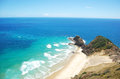Sandy coast at cape reinga new zealand Stock Photography