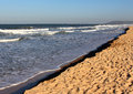 Sandy coastline of the Arabian Sea, India Royalty Free Stock Photo
