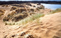 Sandy dunes in Haarlem, Netherlands Stock Photo