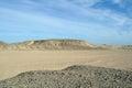 Sandy egyptian desert stone and Stock Photo