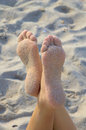 Sandy feet Royalty Free Stock Photo