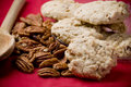 Sandy pecans at christmas time Stock Photos