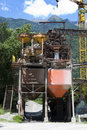Sandy quarry conveyor Royalty Free Stock Photo