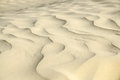 Sandy waves texture close up of golden sand created by wind Stock Images