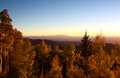 Sangre de cristo mountains during autumn located in new mexico Stock Image