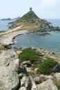 Sanguinaires island with genoese tower on corsica france Stock Photography