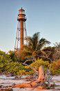 Sanibel island lighthouse in florida usa Stock Image
