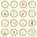 Sanitary engineering cartoon icon circle