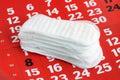 Sanitary pad. Royalty Free Stock Photo