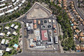 Sanitation plant aerial look at a in a suburb outside phoenix arizona Stock Photos