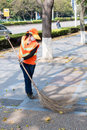Sanitation worker, Zhuhai China Royalty Free Stock Photos