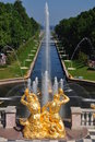 Sankt Petersburg sightseeing: Peterhof palace Royalty Free Stock Images