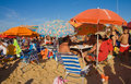 Sanlucar holidaymakers spain august vacationers in beach on august in andalusia spain is a major destination for sun and beach Stock Photography