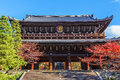 Sanmon the main gate of chion in temple in kyoto built by honen s disciple genchi – memory his master and was named Royalty Free Stock Photos