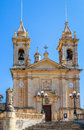 Sannat parish dedicated to st margaret of antioch in the island of gozo malta Royalty Free Stock Photos