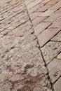 sanpietrini arsizio stree pavement of a church and marble